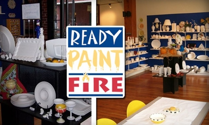 Ready Paint Fire - Pearl: $12 for $25 Worth of Personally Painted Pottery at Ready Paint Fire