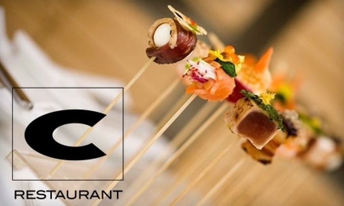 C Restaurant - Downtown Vancouver: $42 for a Six-Course Tasting Menu for One at C Restaurant