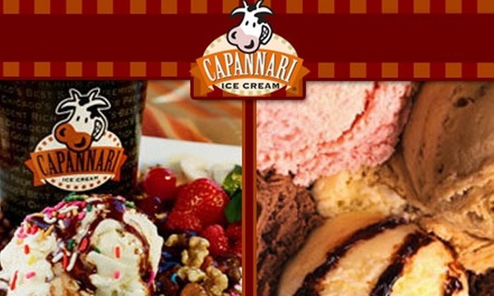 Capannari Ice Cream - Mount Prospect: $5 for $10 Worth of Gourmet Treats at Capannari Ice Cream