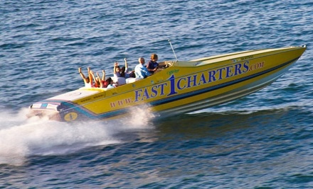 Fast1Charters: 2 Tickets on a Semiprivate Weekday Evening Sunset Cruise - Fast1Charters in Cleveland