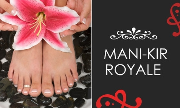 Mani-Kir Royale - Valley Village: $30 for a Martini Manicure and Sweet Mojito Pedicure at Mani-Kir Royale ($63 Value)