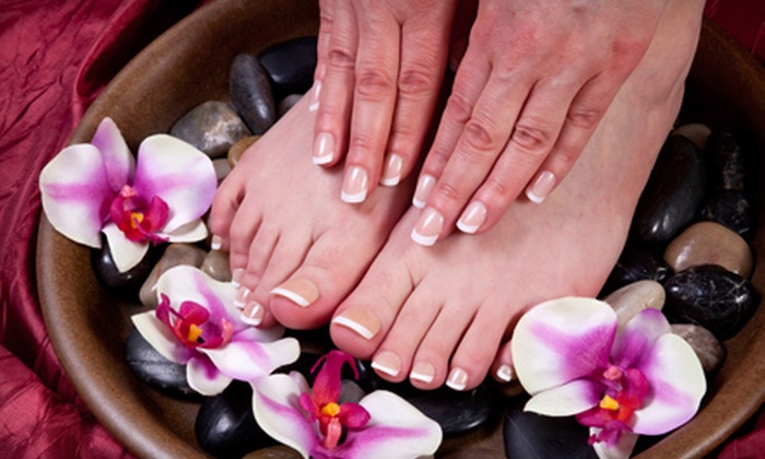 Final Touch Nails & Spa - Dove Meadows: $35 for Signature Herbal Mani-Pedi at Final Touch Nails & Spa in Spring ($70 Value)