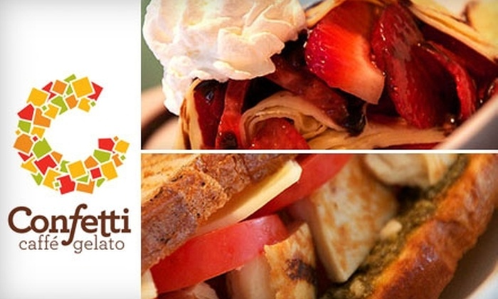 Confetti Caffé & Gelato - Northwest Virginia Beach: $4 for $10 Worth of Gelato, Crepes, Paninis, and More at Confetti Caffé & Gelato