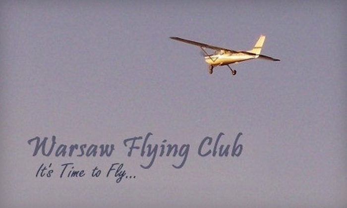 Warsaw Flying Club - Warsaw: $59 for a Discovery Flight Lesson from Warsaw Flying Club ($119 Value)