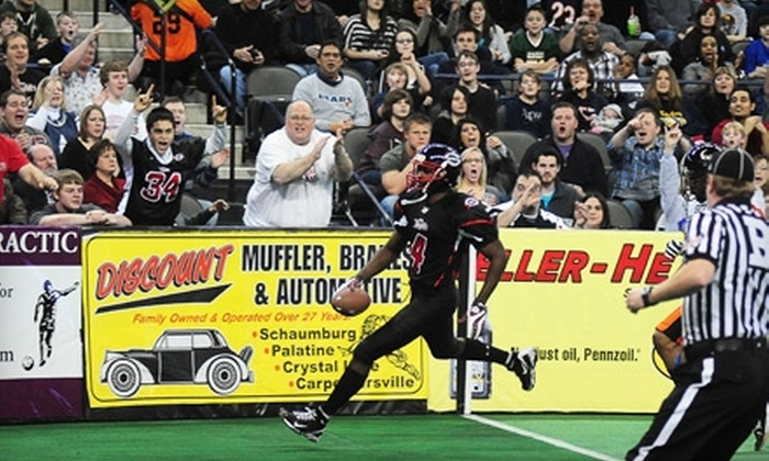 Chicago Slaughter - Hoffman Estates: $6 for a Lower-End-Zone Ticket to Chicago Slaughter Game ($12 Value) in Hoffman Estates. Two Dates Available.