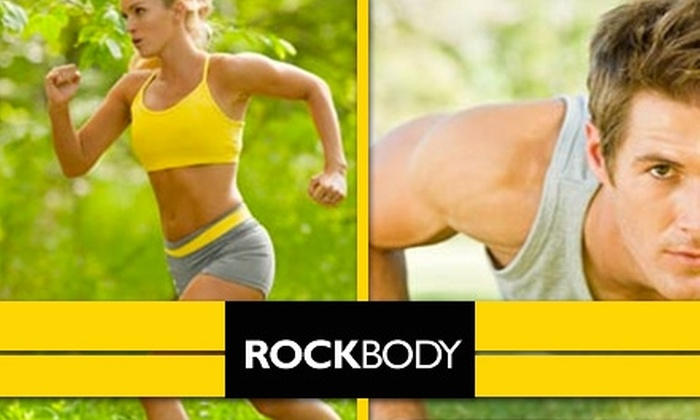 RockBody Fitness Boot Camp - Multiple Locations: $59 for Four Weeks of Unlimited RockBody Fitness Boot-Camp Classes ($125 value)