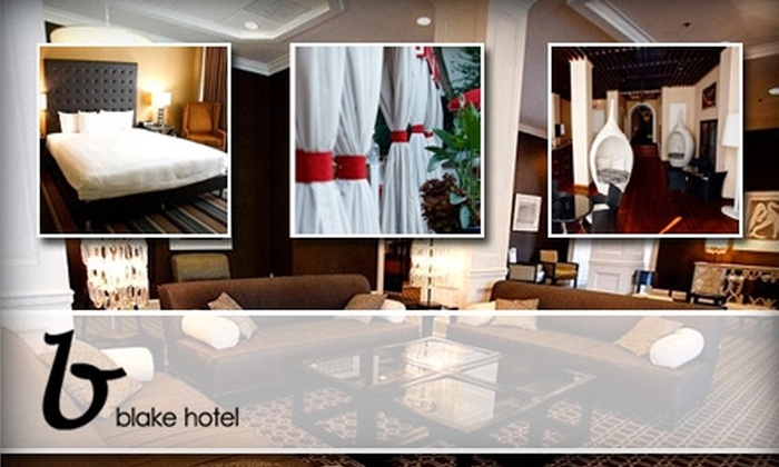 The Blake Hotel - Second Ward: $70 for a Romance Package and Deluxe Room at The Blake Hotel ($129 Value)