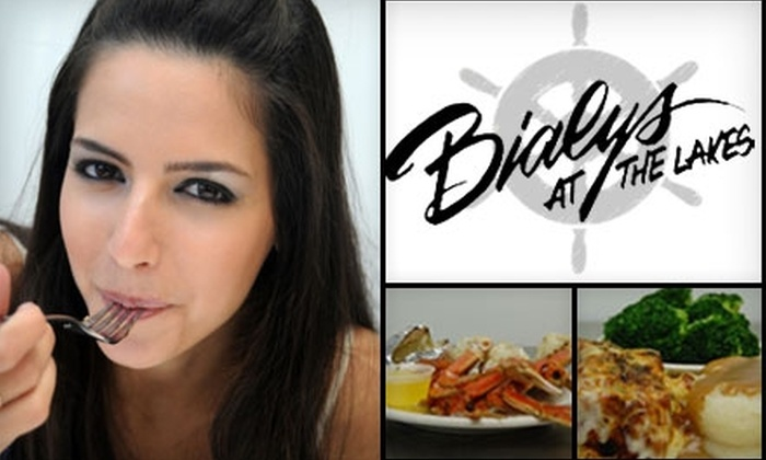 Bialy's at the Lakes - Coventry: $7 for $15 Worth of Traditional American Cuisine and Drinks at Bialy's at the Lakes
