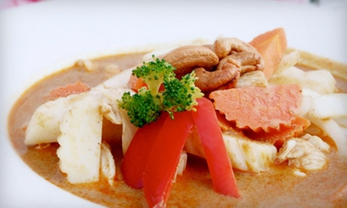 Curry Curry Thai Restaurant - Multiple Locations: $7 for $15 Worth of Authentic Thai Cuisine and Drinks at Curry Curry Thai Restaurant. Two Locations Available.