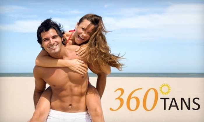 360 Degree Tans - Multiple Locations: $20 for Three Booth Tans or One Organic Airbrush Tan at 360 Degree Tans