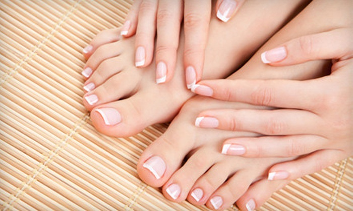 Centre Pointe Nails & Spa - Camelback East: Regular or Shellac Manicure with a Hot-Stone Pedicure at Centre Pointe Nails & Spa (Up to 54% Off)