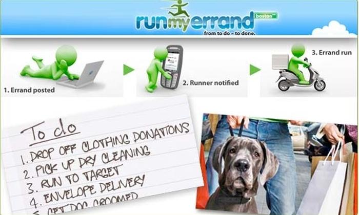 RUNmyERRAND - Boston: $15 for $30 Worth of Errands
