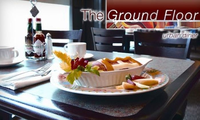 The Ground Floor Urban Diner - Downtown Winnipeg: $10 for $25 Worth of Comfort Food and Drinks at The Ground Floor Urban Diner