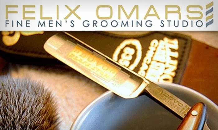 Felix Omars Fine Men's Grooming Studio - Studio City: $30 for a Professional Men's Shave from Felix Omars Fine Men's Grooming Studio ($65 Value)
