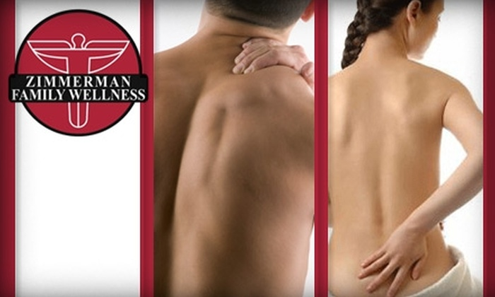 Zimmerman Family Wellness - Cornelius: $59 for a Full Chiropractic Exam, X-rays, Adjustment, and One-Hour Massage at Zimmerman Family Wellness in Cornelius (Up to $365 Value)