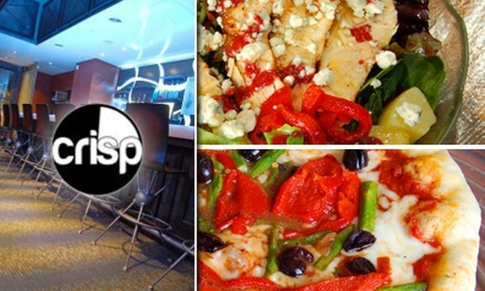 Crisp Pizza Bar & Lounge - Milwaukee: $10 for a Large Wood-Stone-Oven-Baked Pizza with Three Toppings at Crisp Pizza Bar & Lounge