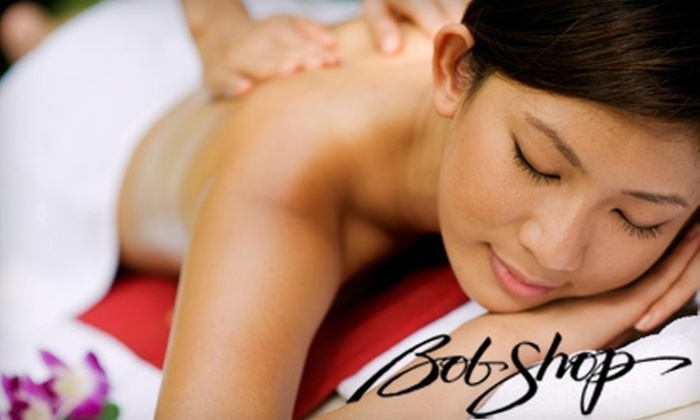 Bob Shop Salon - Downtown: $30 for a 60-Minute Massage of Choice ($65 Value) or Two Shellac No-Chip Nail Treatments ($60 Value) at Bob Shop Salon