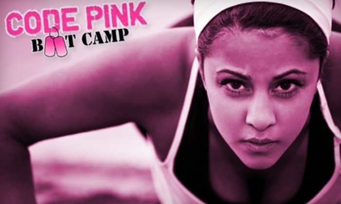 Code Pink Boot Camp - Multiple Locations: $49 for Four Weeks of Boot Camp with Two Sessions Per Week at Code Pink Boot Camp ($149 Value)