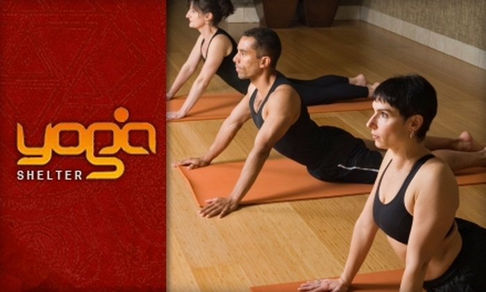 Yoga Shelter - Los Angeles: $25 for Five Yoga Classes at Yoga Shelter ($90 Value)