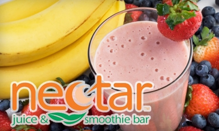 Nectar Juice & Smoothie Bar - Green: $5 for $10 Worth of Smoothies, Wraps, and More at Nectar Juice & Smoothie Bar
