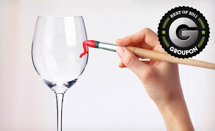 Admission for 1 to a BYOB Wineglass-Painting Class (a $40 value) - Vino2VanGogh in Corpus Christi