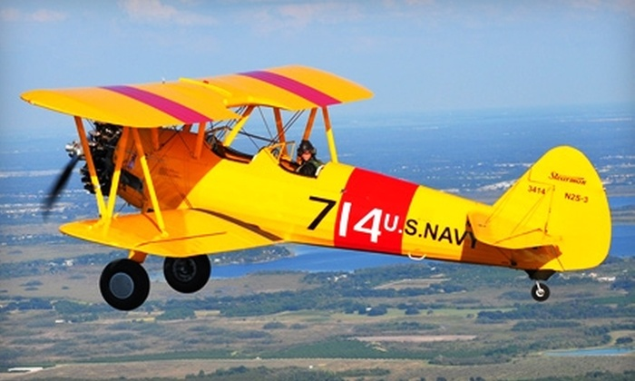 Tailwheels, Etc. - Winter Haven: $35 for a 30-Minute Flight Lesson ($75 Value) or $187 for a Ride in a 1940 Stearman Biplane ($395 Value) from Tailwheels Etc.
