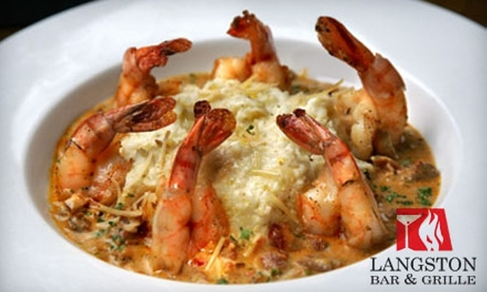 Langston Bar & Grille - Kingman Park: $25 for $50 Worth of Southern Comfort Cuisine or $35 for a Prix Fixe Meal on One of Four Dates ($70 Value) at Langston Bar & Grille