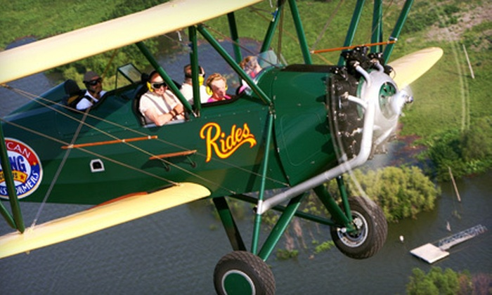 Biplane Rides of America - Spring Valley: $80 for a 15-Minute Biplane Ride for Mother and Child at Biplane Rides of America in Brodhead (Up to $160 Value)
