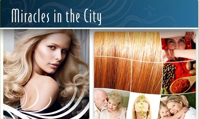 Miracles in the City - Multiple Locations: Haircut, Oil Treatment, Brows, and More at Miracles in the City
