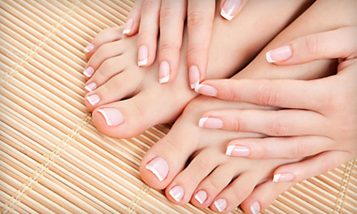 Hello Gorgeous Salon & Spa - Las Vegas: Regular Mani-Pedi or Gel Manicure with Regular Pedicure at Hello Gorgeous Salon & Spa (Up to 55% Off)