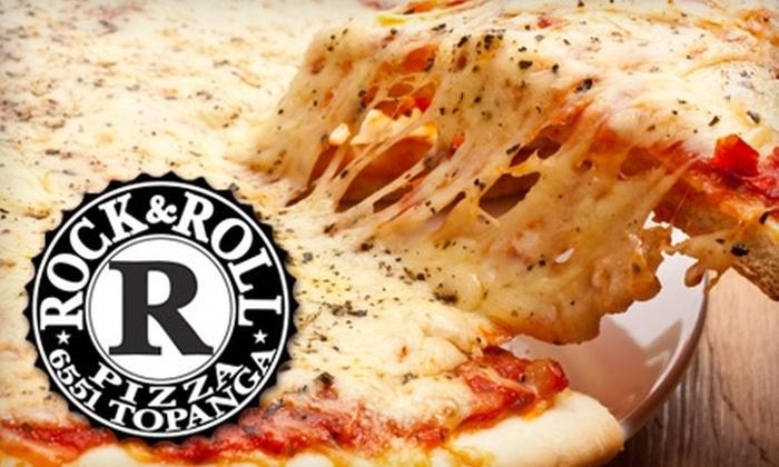 RedBalls Rock & Roll Pizza - Canoga Park: $10 for $20 Worth of Fare at RedBalls Rock & Roll Pizza in Woodland Hills