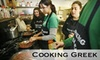 Cooking Greek - Carmel: $30 for a Traditional Greek Cooking Class ($60 Value) or $60 Worth of Take-Home Cuisine from Cooking Greek