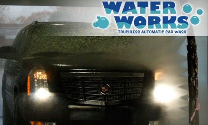"Waterworks - Multiple Locations: $4 for ""The Works"" Car Wash at Waterworks ($8 Value)"
