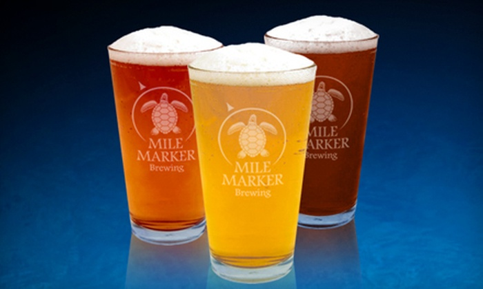 Mile Marker Brewing, LLC - San Sebastian: $10 for Beer Flights and Pints for Two at Mile Marker Brewing in St. Augustine (Up to $20 Value)