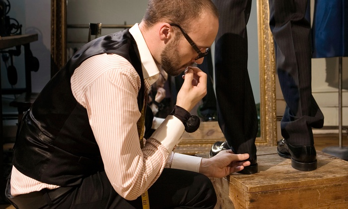Paco's Custom Clothiers - Multiple Locations: $695 for a Custom-Suit Package at Paco's Custom Clothiers ($1,545 Value)