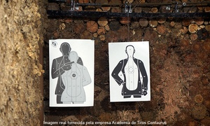 Academia de Tiros Centaurus: Centaurus – Granja Viana: 1 sessão de tiro dinâmico com revólver, pistola, carabina ou espingarda