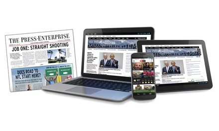 One-Year Subscription for Thursday-Sunday or Sunday Delivery to The Press-Enterprise (86% Off)