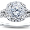 1 7/8 CTTW Diamond Engagement Ring in 14K White Gold by Bliss Diamond