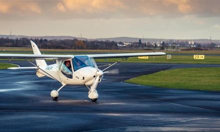 30 oder 60 Minuten Rundflug mit Start und Landung vom SXF inkl. Anleitung, Einweisung und Foto mit Pied Piper Air
