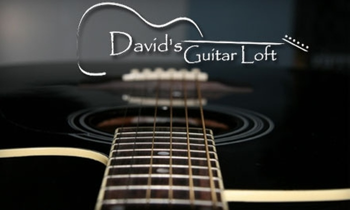 David's Guitar Loft - Multiple Locations: $39 for Two Private Lessons at David's Guitar Loft ($80 Value)
