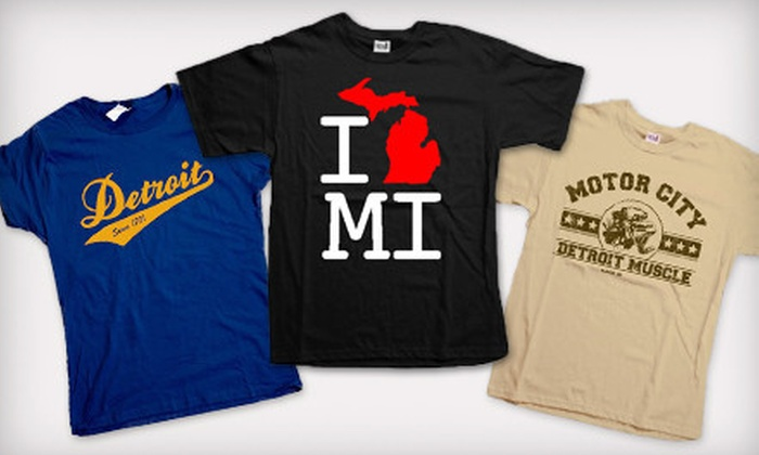 Detroit Motor Apparel: One or Two Michigan-Inspired T-Shirts from Detroit Motor Apparel (Up to 52% Off)