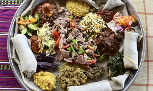 Ethiopian Cuisine and Drinks at Lalibela Ethiopian Restaurant (Up to 60% Off). Two Options Available.