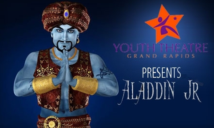 """Youth Theatre Grand Rapids - Grand Rapids: $15 for a Family Four-Pack of Tickets to the Youth Theatre Grand Rapids Production of """"Aladdin"""" ($30 Value)"""