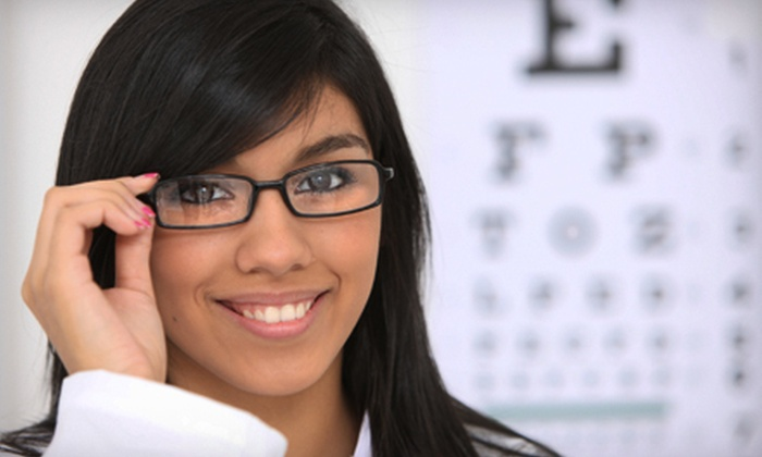 English Bay Eyeworx - West End: $65 for an Eye-Care Package with Exam and $250 Toward Complete Pair of Glasses at English Bay Eyeworx (Up to $335 Value)