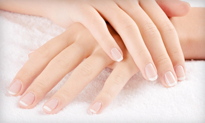 Coco Beach Tanning Studio - Mount Pearl: Shellac French or Full-Colour Manicure or $15 for $30 Worth of Nailcare at Coco Beach Tanning Studio