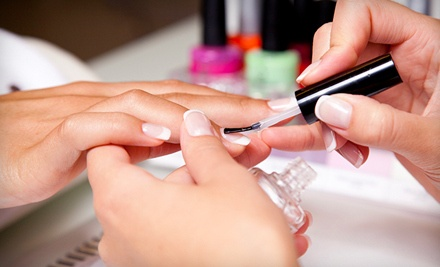 Choice of 1 Shellac Manicure or Regular Pedicure (a $35 value) - Livin' it Up! Nail Studio  in Verona