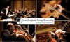 New England String Ensemble - Fenway/Kenmore: $23 for One Section A Ticket to the New England String Ensemble ($47 Value). Buy Here for Saturday, January 30 at 8 p.m. at New England Conservatory's Jordan Hall. See Below for Additional Performances and Venues.