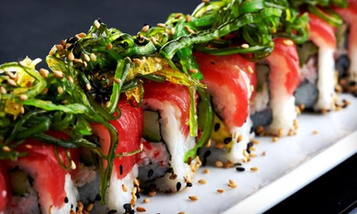 Tsunami Sushi - Huntington Beach: $20 for $40 Worth of Sushi, Teppanyaki Fare, and Drinks at Tsunami Sushi in Huntington Beach