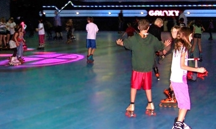 Galaxy Skateway - Melbourne: Skating Outing for Two or Five with Rentals, Pizza, Soda, and Tokens at Galaxy Skateway in Melbourne (Up to 65% Off)