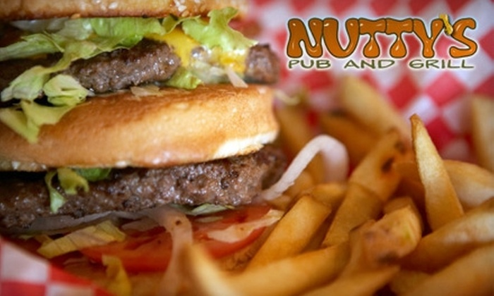 Nutty's Pub and Grill - Sioux Falls: $6 for $12 Worth of Pub Grub and Pours at Nutty's Pub and Grill